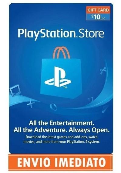 Cartão Psn Card $10 Dólares Playstation Network Store Usa