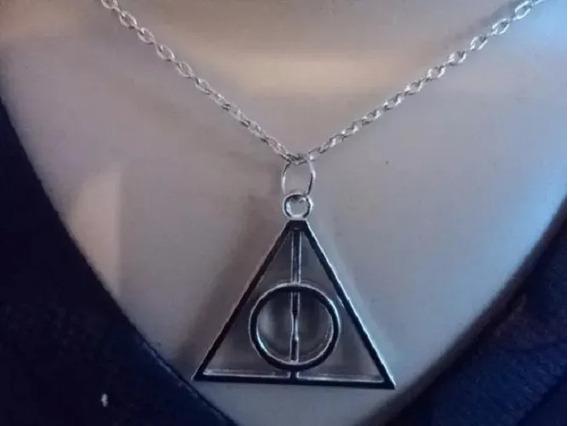 Colar Relíquias Da Morte Cordão Harry Potter