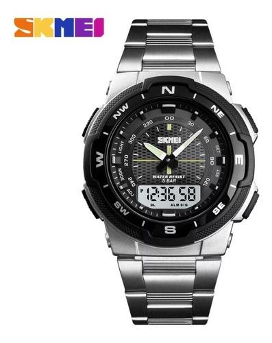 Relógio Skmei 1370 Masculino Digital Prova D Água 50m Inox