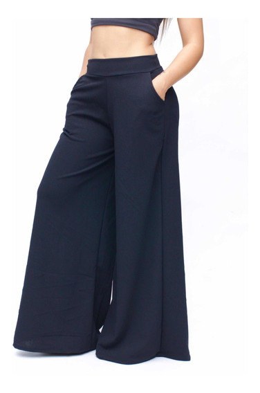 Pantalón Elegante Casual Acampanado. En 4 Colores. Maxi