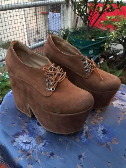 Zapatos Con Plataforma Luna Chiara Talle 40 Art 65
