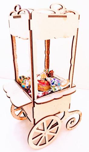Imagen 1 de 8 de Candy Bar Pochoclera Souvenir 32cm - Mdf / Fibrofacil