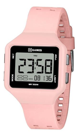 Relógio X-games Feminino Digital Xlppd035 Bxrx Rosa