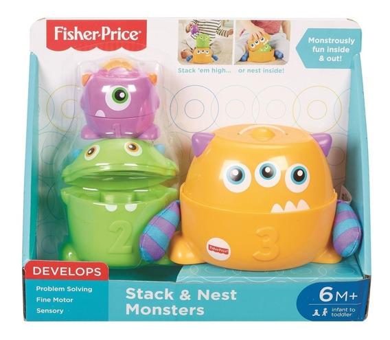 Brinquedo Empilha Monstros Fisher Price Original