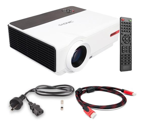 Proyector 5500 Lumens Usb Hdmi 1080p 200 Sintonizador Tv