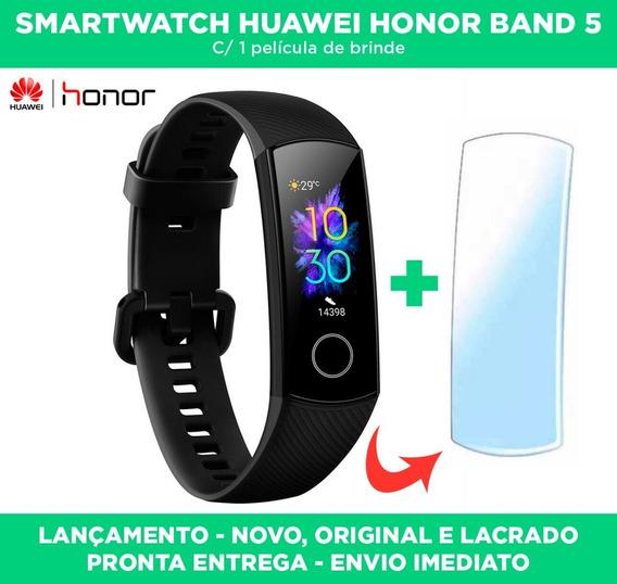 Pulseira Inteligente Huawei Honor Band 5 Lançamento Original E Lacrado Com Oxímetro + 1 Película