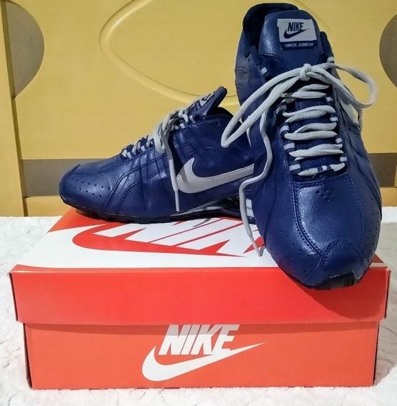 Tenis Nike Shox Junior Azul/cinza Nº42/43 Original Na Caixa