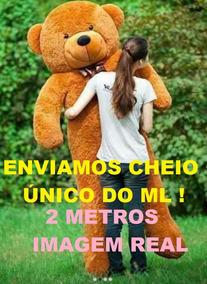 Urso Gigante 2 Metros Teddy Bear 200cm Pelucia Cheio