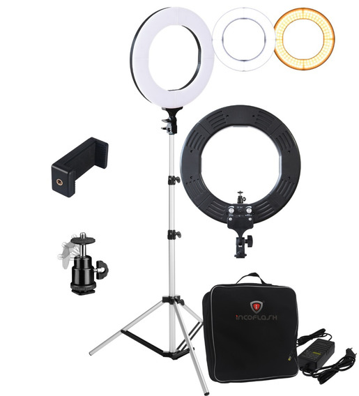 Kit Profissional Iluminador Led Ring Light Bicolor 60w