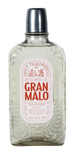 Imagen 1 de 1 de Botella Licor De Tequila Gran Malo Spicy Tamarido 750ml