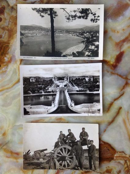Postales Antiguas Europeas/de Guerra - Lote 3 Unidades