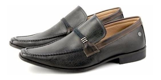 Sapato Tênis Casual Masculino Couro Jeans Combina Com Calça
