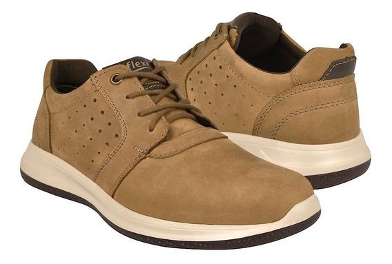 Zapatos Casuales Para Caballero Flexi 401501 Honey