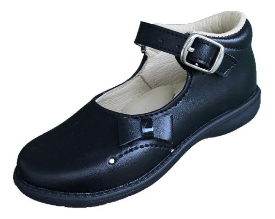 Zapato Bota Pies Chikos 1429 Niña Negro Moda Escolar