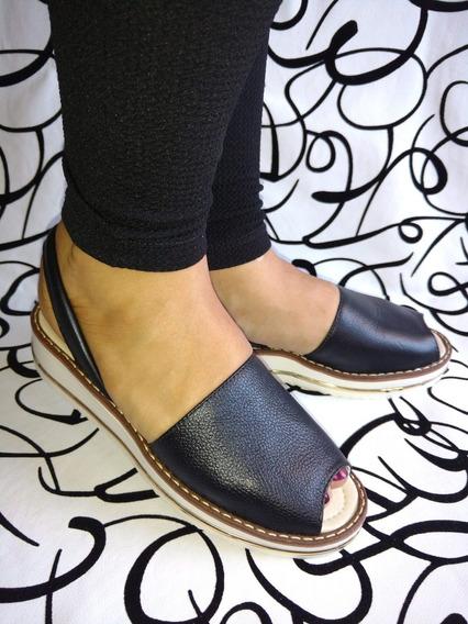 Calzado Sandalias Colombianas En Cuero Negro Envío Gratis