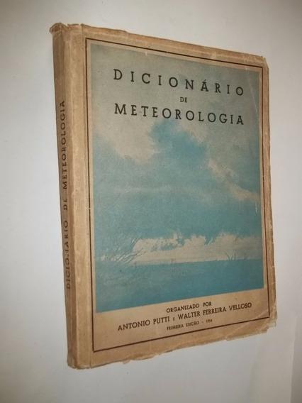 Livro - Dicionário De Meteorologia - Antonio Putti
