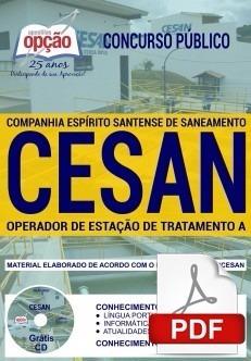 Apostila Cesan 2018 - Operador De Estação De Tratamento A