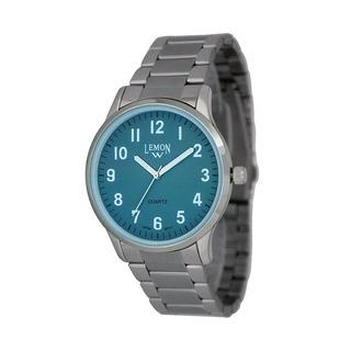 Reloj Analogico Lemon L1391 Sumergible 3 Agujas Acero Oficial