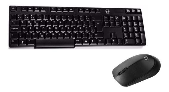 Kit Teclado E Mouse S/fio Com Teclas Silenciosas W600bk C3