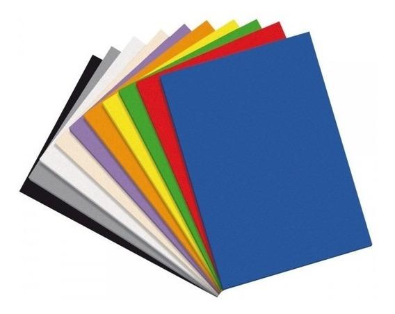 Goma Eva En Planchas 45 X 60 1,6mm X100 Unidades Color Lisas