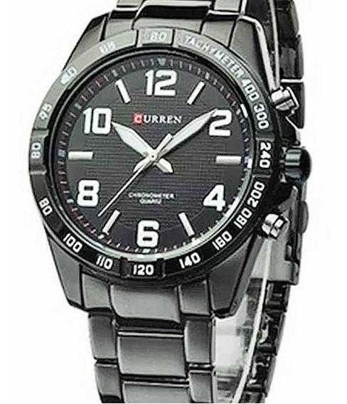 Relógio Masculino Preto Analógico Curren 8107 Promoção