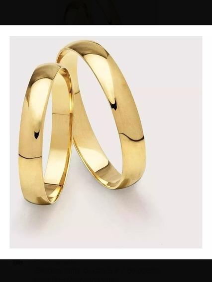Aliança De Casamento 2.5 Gramas O Par Ouro 18 K