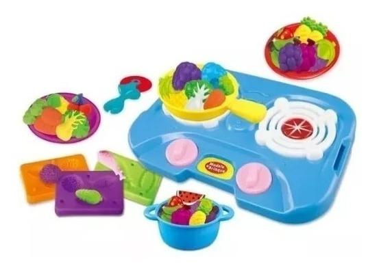 Cozinha Brinquedo Massinha Modelar 5 Potes Brinquedos Color