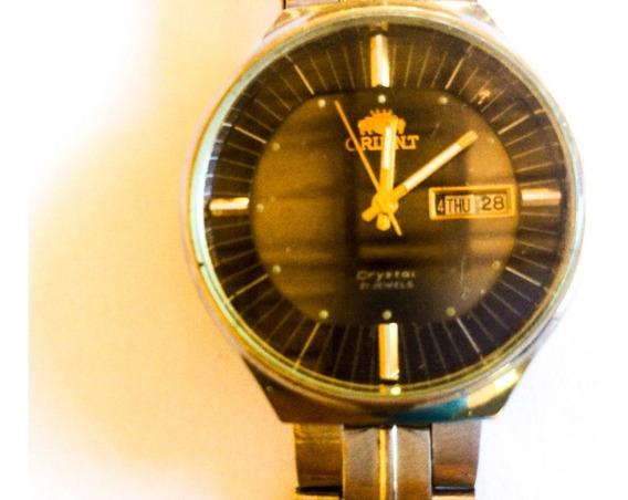 Lindão Relógio Orient Cristal Automático 38 Mm Grená