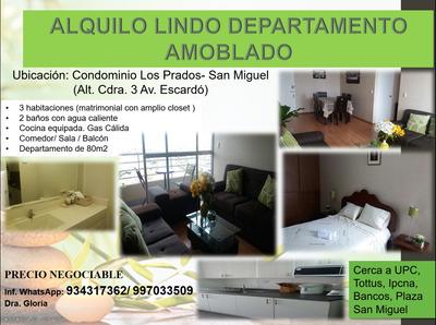 Alquilo Lindo Departamento En San Miguel