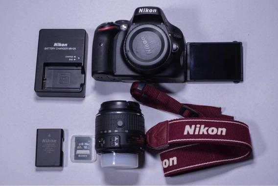 Câmera Digital Nikon Slr D5100+ Lente Nikkor 18-55mm Usada
