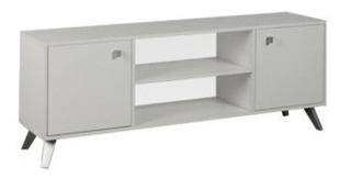 Rack Tv Led Escandinavo Re140 Dielfe Blanco