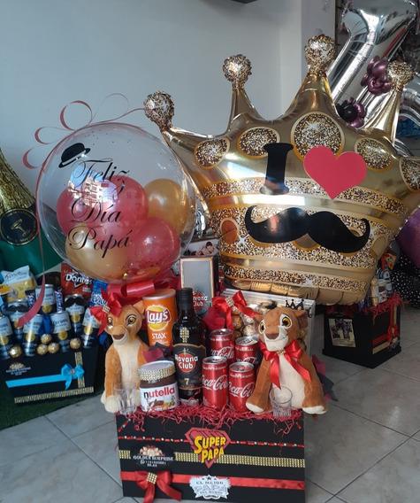 Regalo Hombre Bebidas Golosinas Peluche Globos Cumpleaños