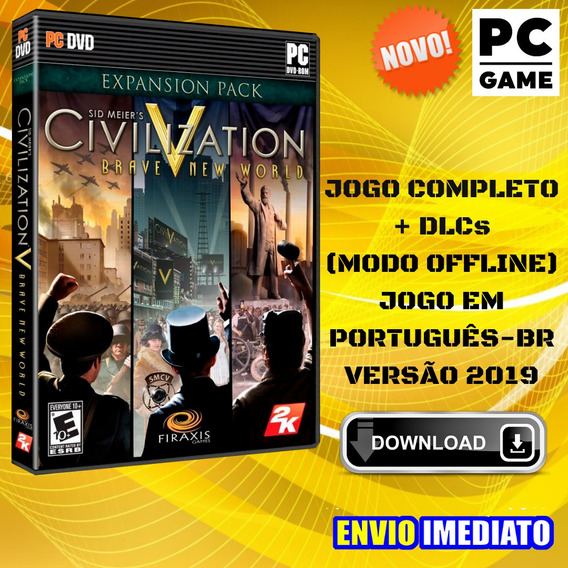 Sid Meiers Civilization V - Pc - Português - Envio Digital