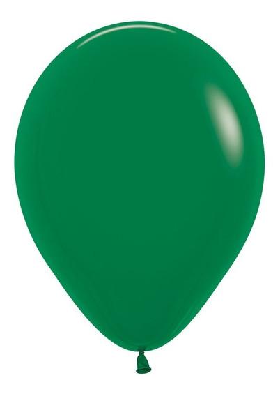 Bolsa Con 50 Globos Fashion Verde Selva 12 Pulgadas