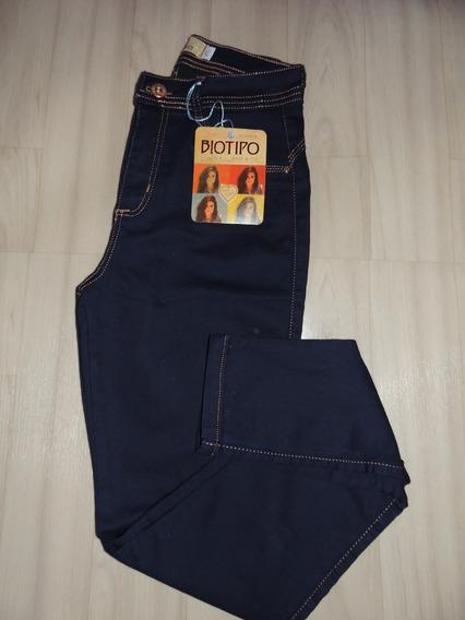 Calça Biotipo Tamanho 44 Cintura Alta Jeans Escuro