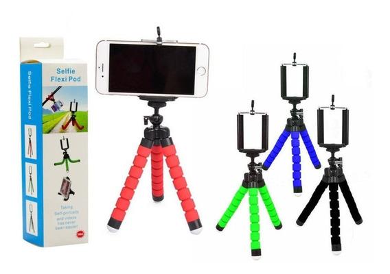 Mini Tripé Suporte Flexível Celular Selfie Gravação Flexi