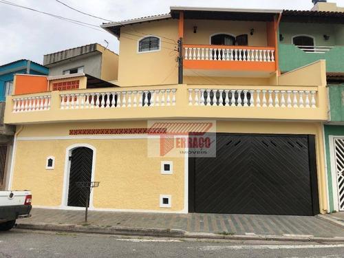 Sobrado À Venda, 259 M² Por R$ 490.000,00 - Parque Gerassi - Santo André/sp - So0898