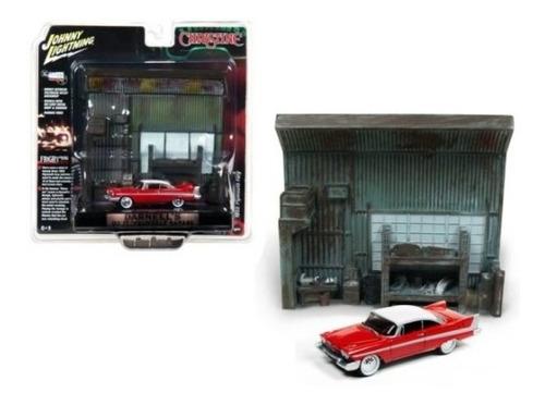 Diorama Plymouth Fury 1958 Christine 1/64 Johnny Lightning