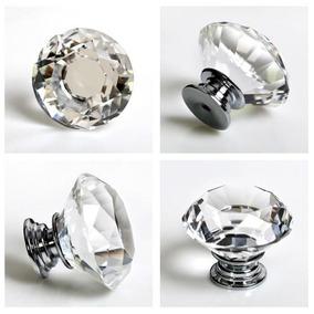 Puxador Cristal Diamante 30mm Kit 17 Peças