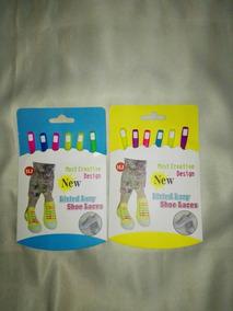 Trenzas Cordon De Colores Goma Para Zapatos Importado X 2
