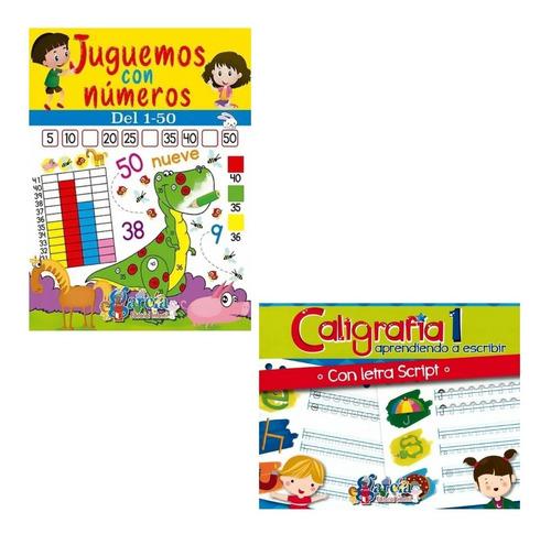 Imagen 1 de 2 de Paquete Dos Libros / Juguemos Con Los Números Y Caligrafía