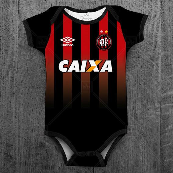 Body Bebê Atlético Paranaense Futebol Personalizado C/ Nome