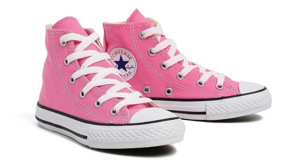 Tenis Converse All Star Ct Core Hi Bota Rosa Chiclete