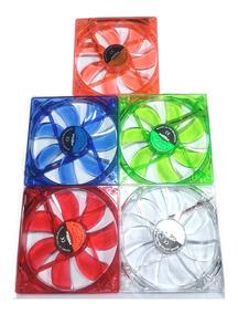 Cooler Colorido Fan Led Verde 12cm 120mm Pc Módulo Diversos