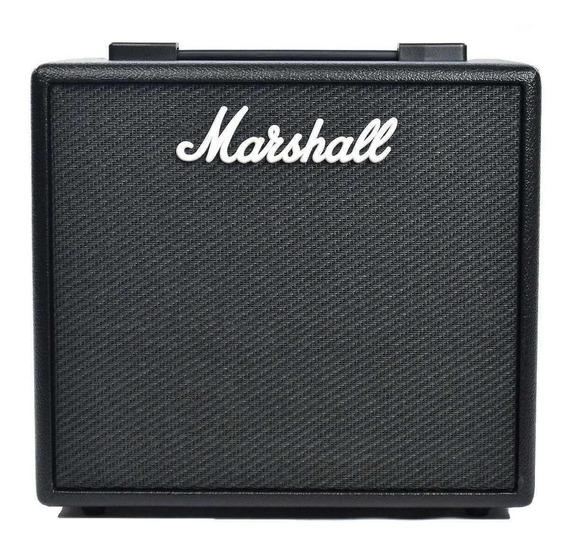 Amplificador Marshall Code 25 25W transistor preto