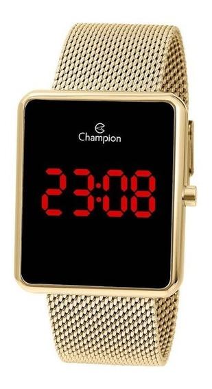 Relógio Champion Feminino Dourado Digital Ch40080v