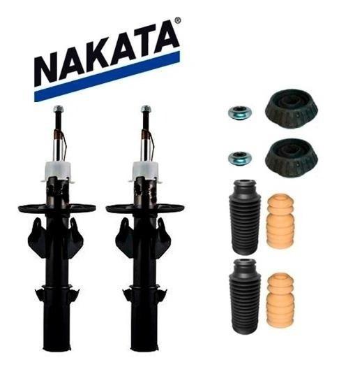 2 Amortecedores Nakata Dianteiro Fit 2003 A 2008 + Kits