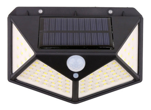 Imagen 1 de 10 de Reflector Led Panel Solar Sensor Movimiento 100 Leds