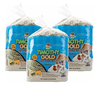 3 Pack Heno Timothy American Pet, El Mejor Heno Para Tu Conejo Cuyo Chinchilla Pues No Contiene Alfalfa Envío Incluido,