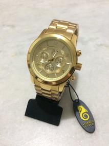 Relógio Dourado Masculino Original Atlantis